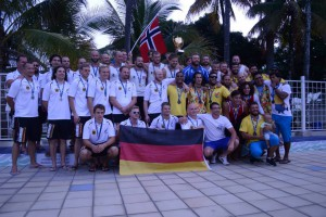 Die Sieger bei den Herren: 1. Norwegen, 2. Deutschland und 3. Kolumbien (Foto: Veranstalter)